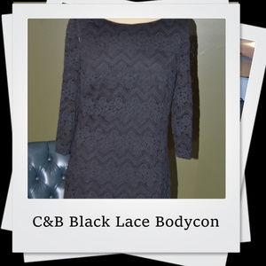 EUC| C&B Black Lace Bodycon Dress
